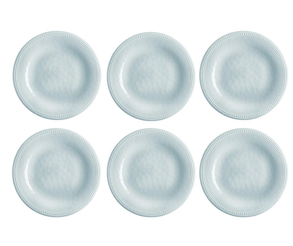 Set 6 farfurii intinse Harmony Silver