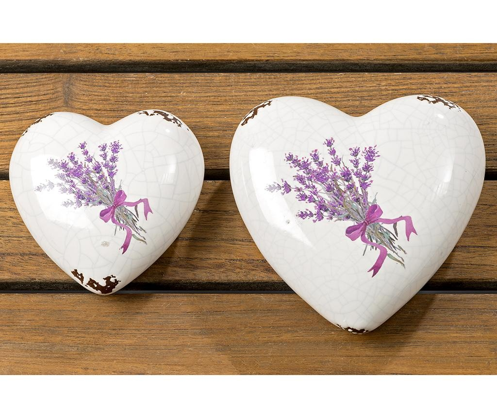 Set 2 decoratiuni Lova Heart