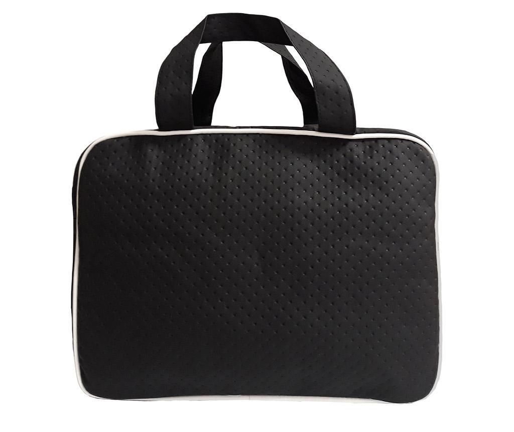 Set geanta si saltea pliabila pentru schimbat scutece Dots Black