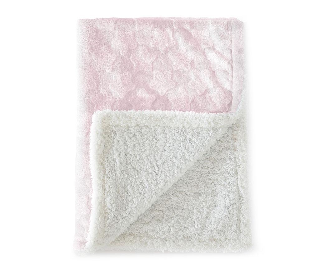 Estrellas Pink Pléd 110x140 cm