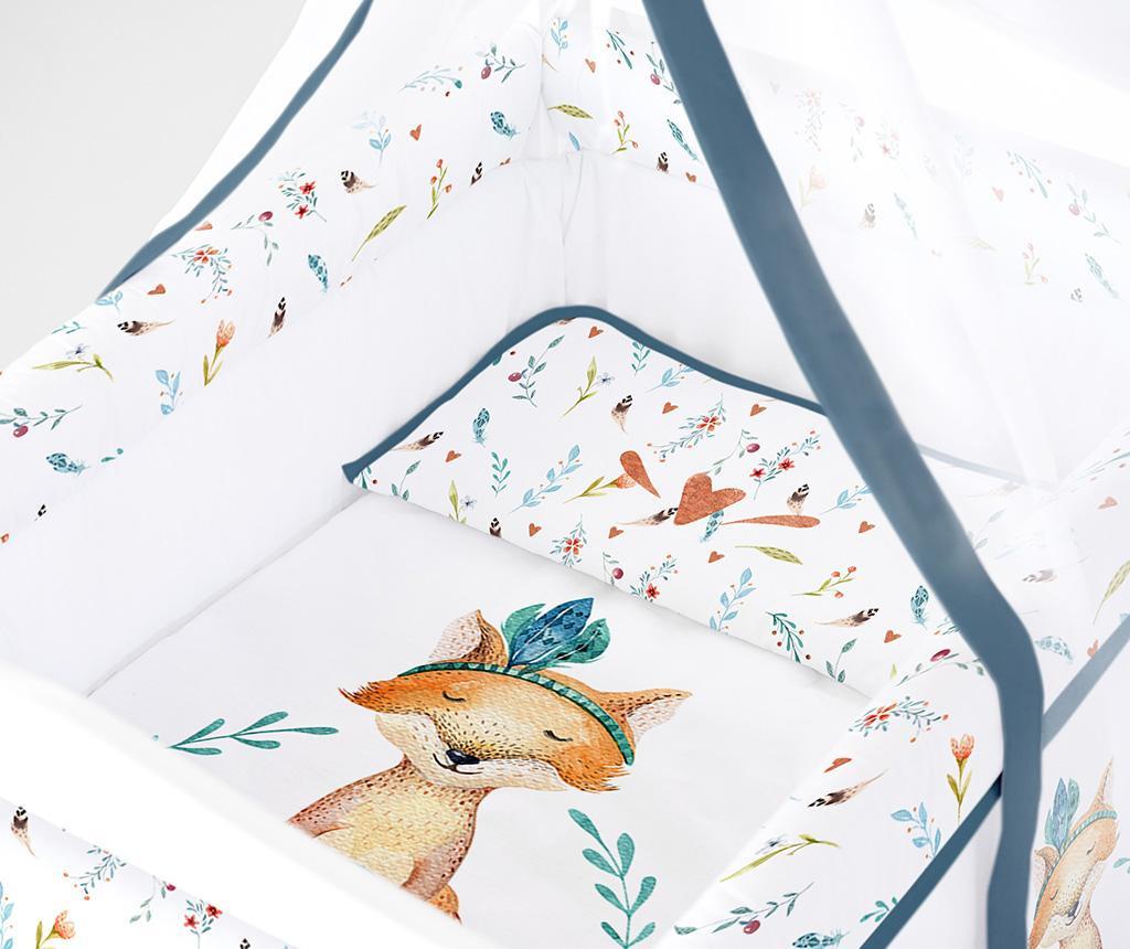 Set krevetić sa baldahinom i dodacima Fox