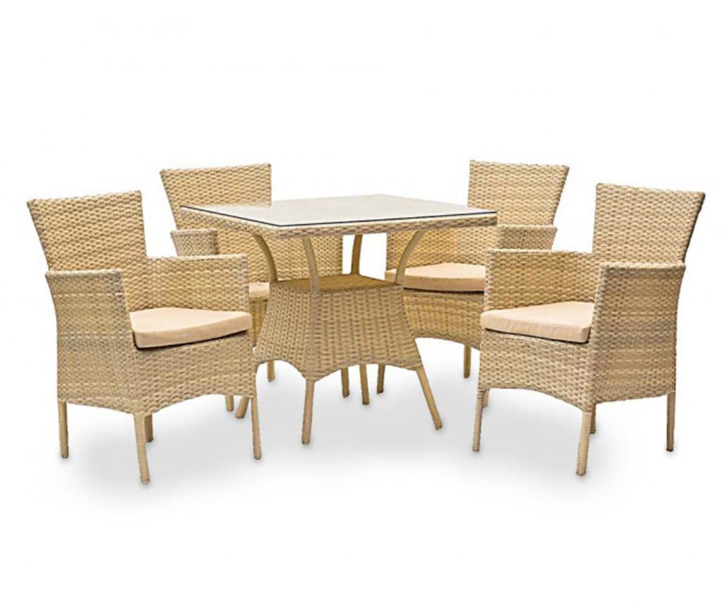 Set mobilier pentru exterior 5 piese Cosmo