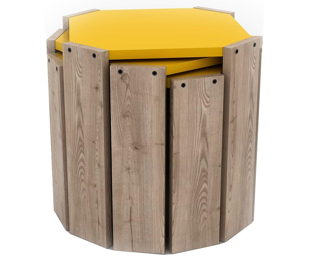 Rafevi Hansel Oak Yellow 3 db Asztalka