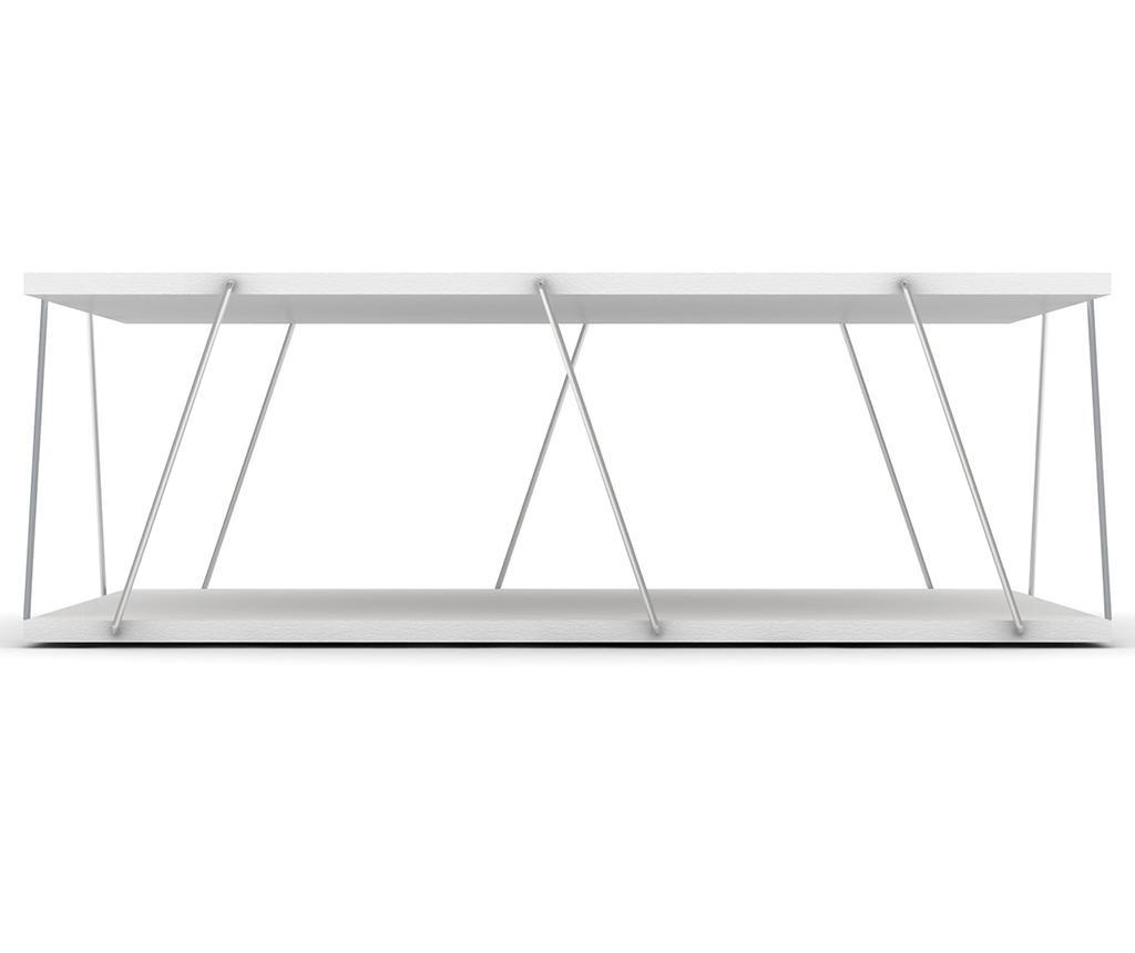 Konferenčný stolík Tars White Chrome