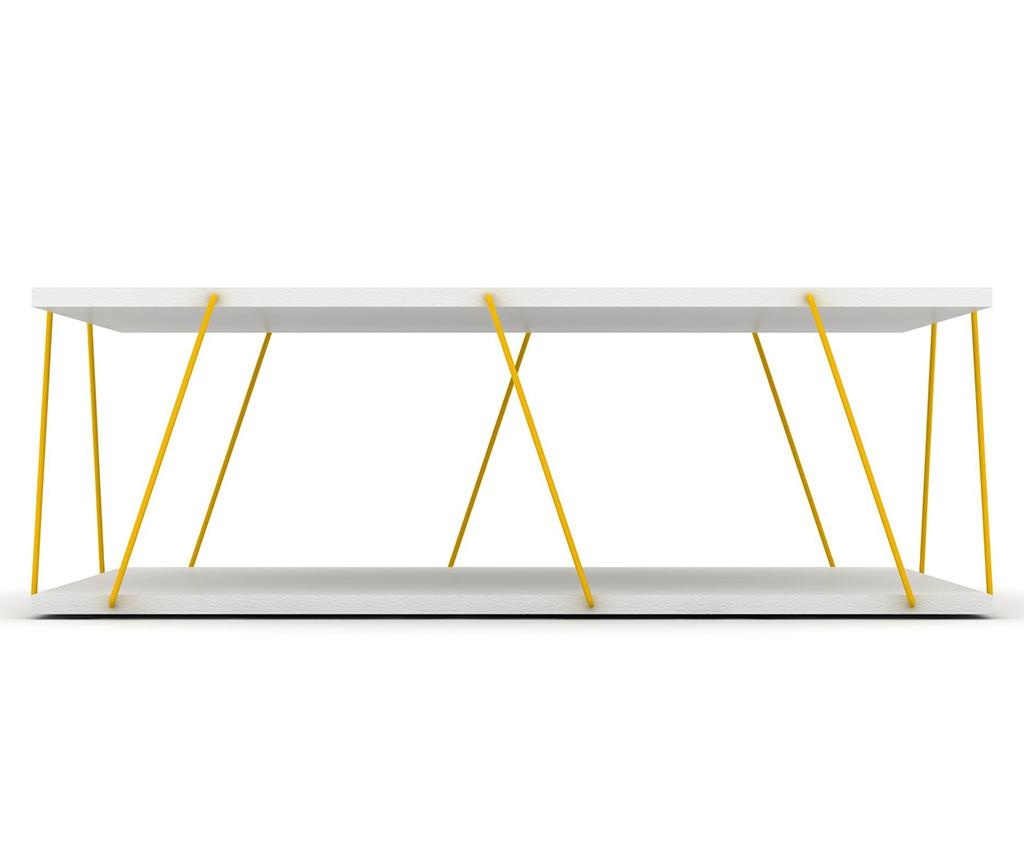 Tars White Yellow Dohányzóasztal