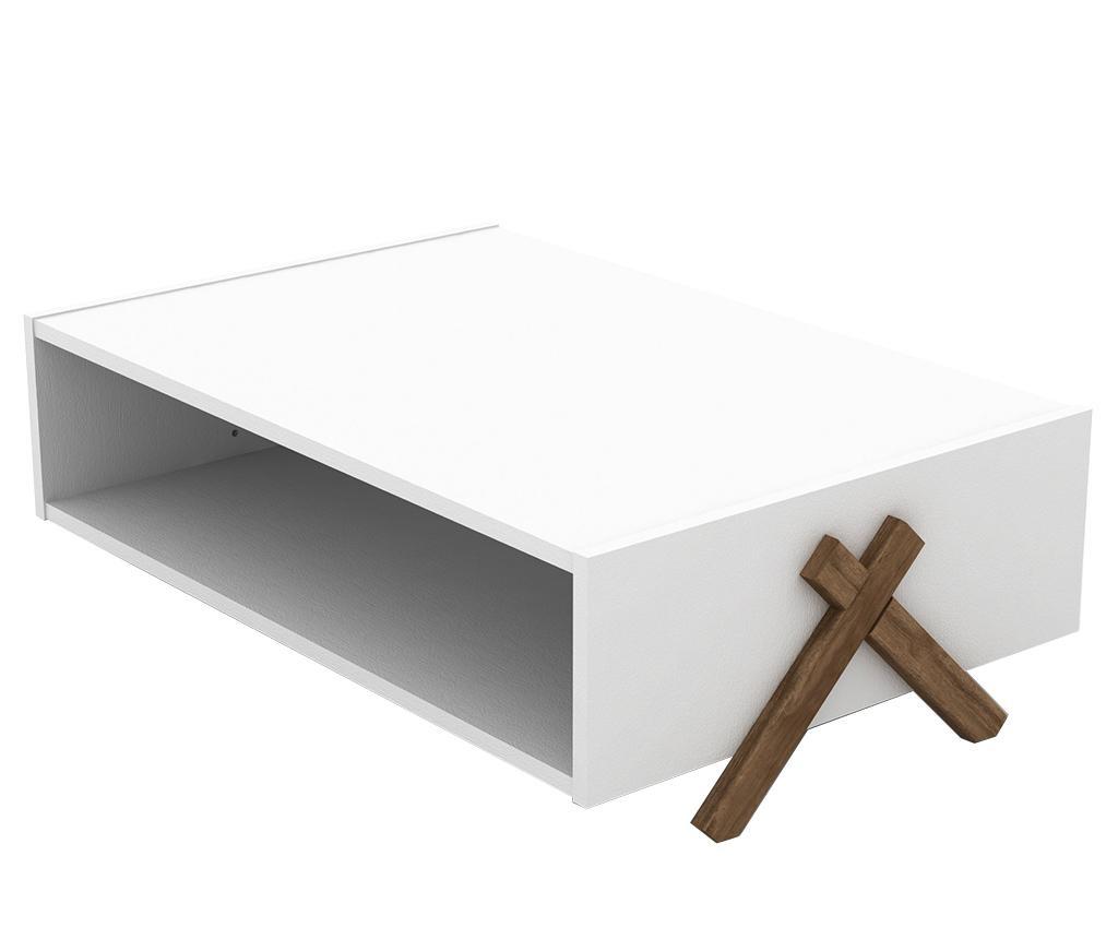 Kipp Walnut White Dohányzóasztal