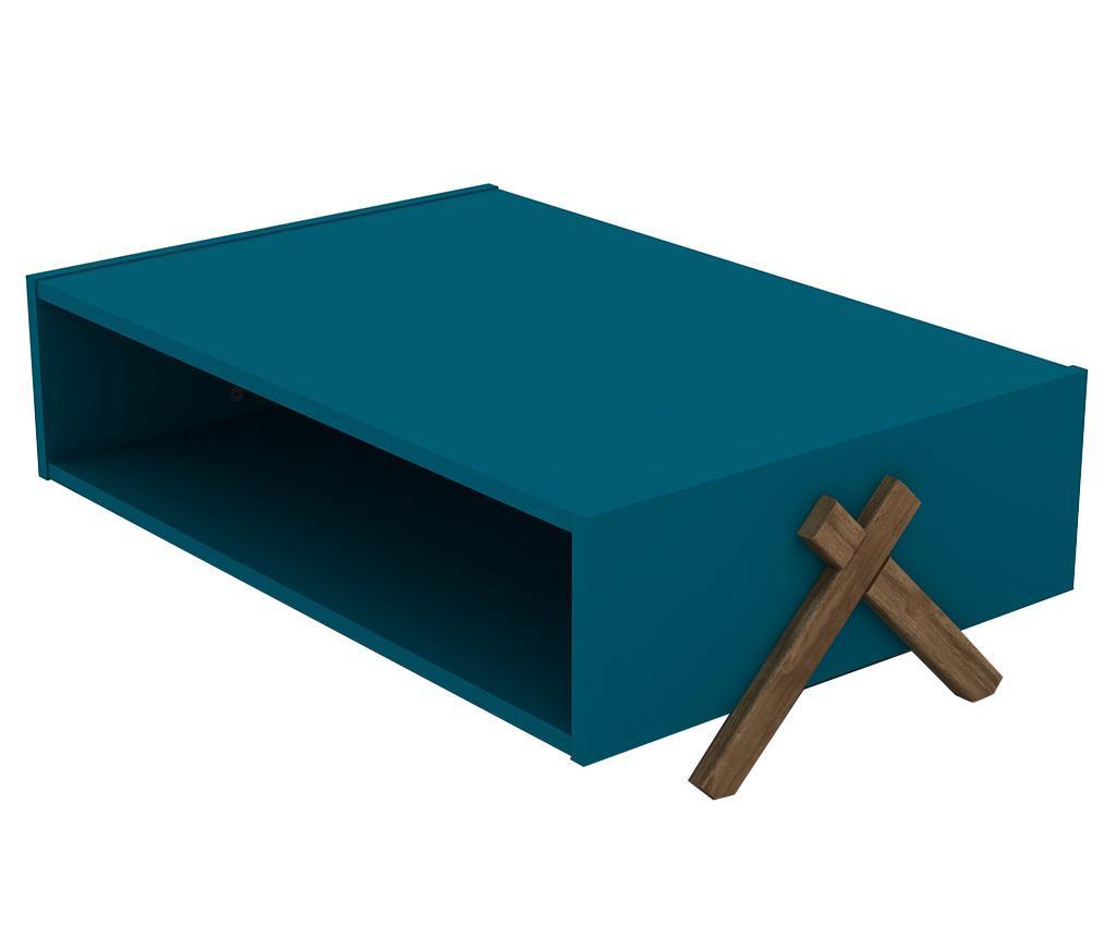 Stolić za kavu Kipp Walnut Blue