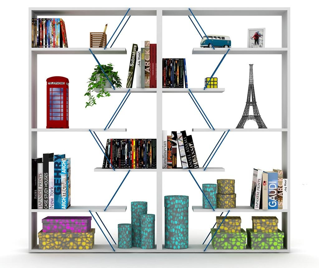 Corp biblioteca Tars White Blue