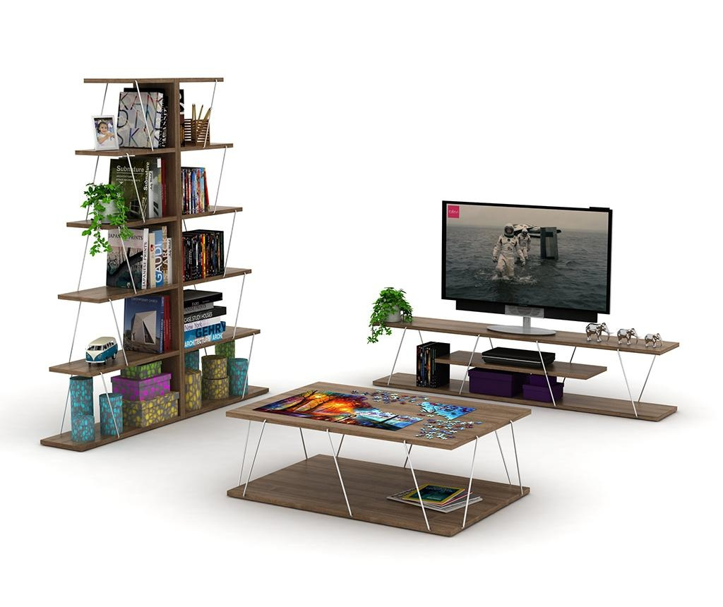 Corp biblioteca Tars Walnut Chrome