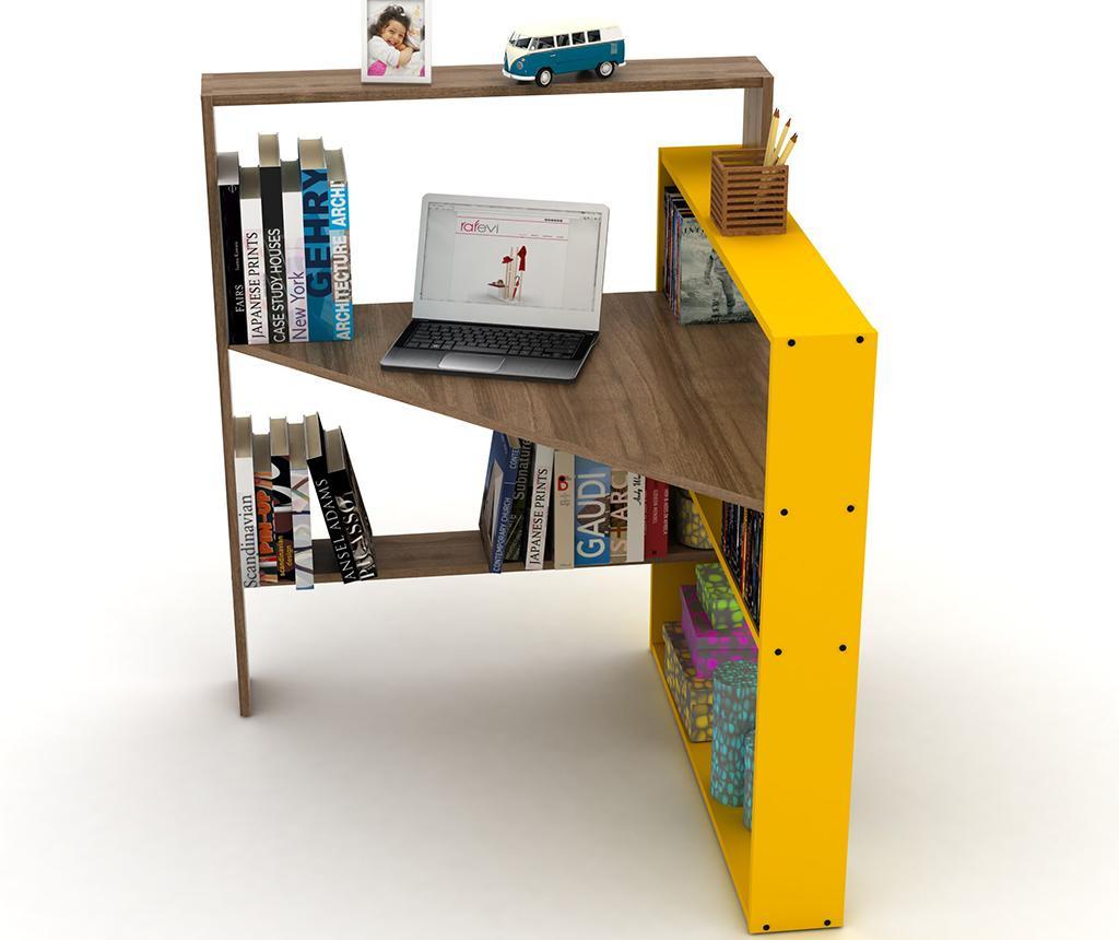 Pisalna miza Pisagor Walnut Yellow