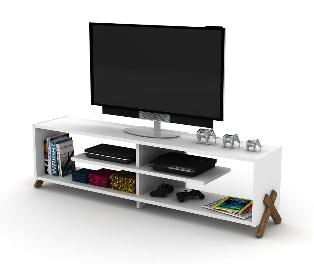 TV komoda Kipp Walnut White