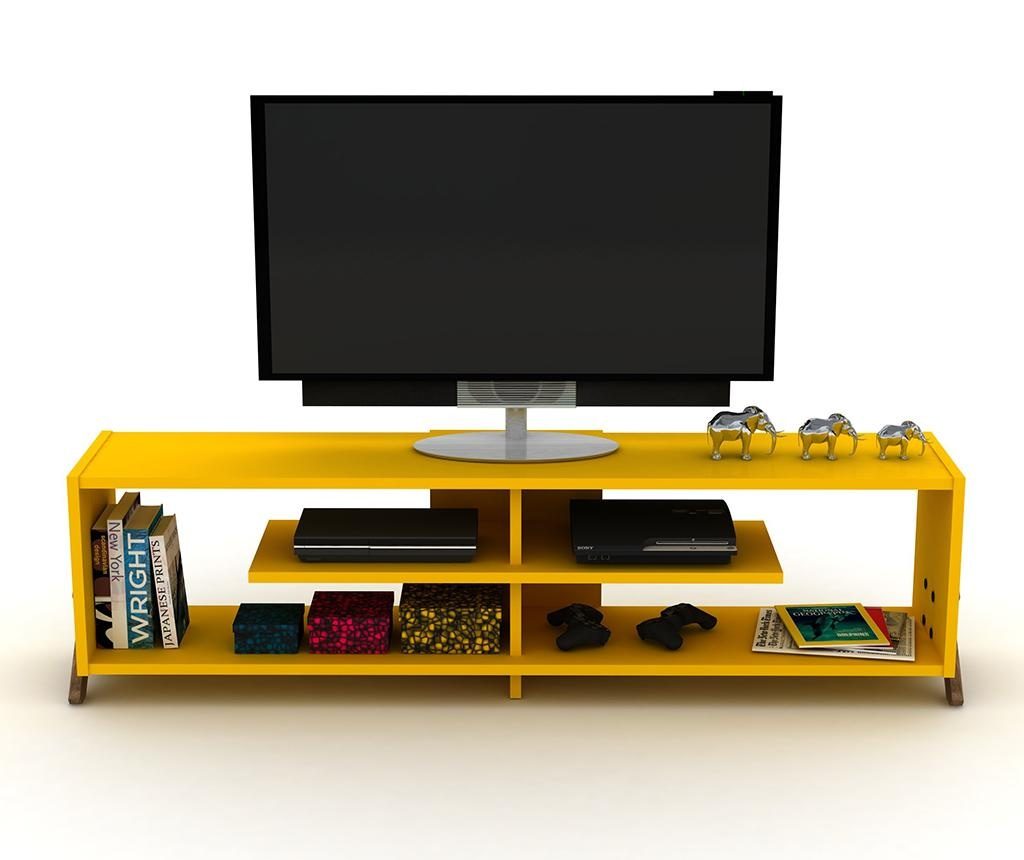 TV komoda Kipp Walnut Yellow