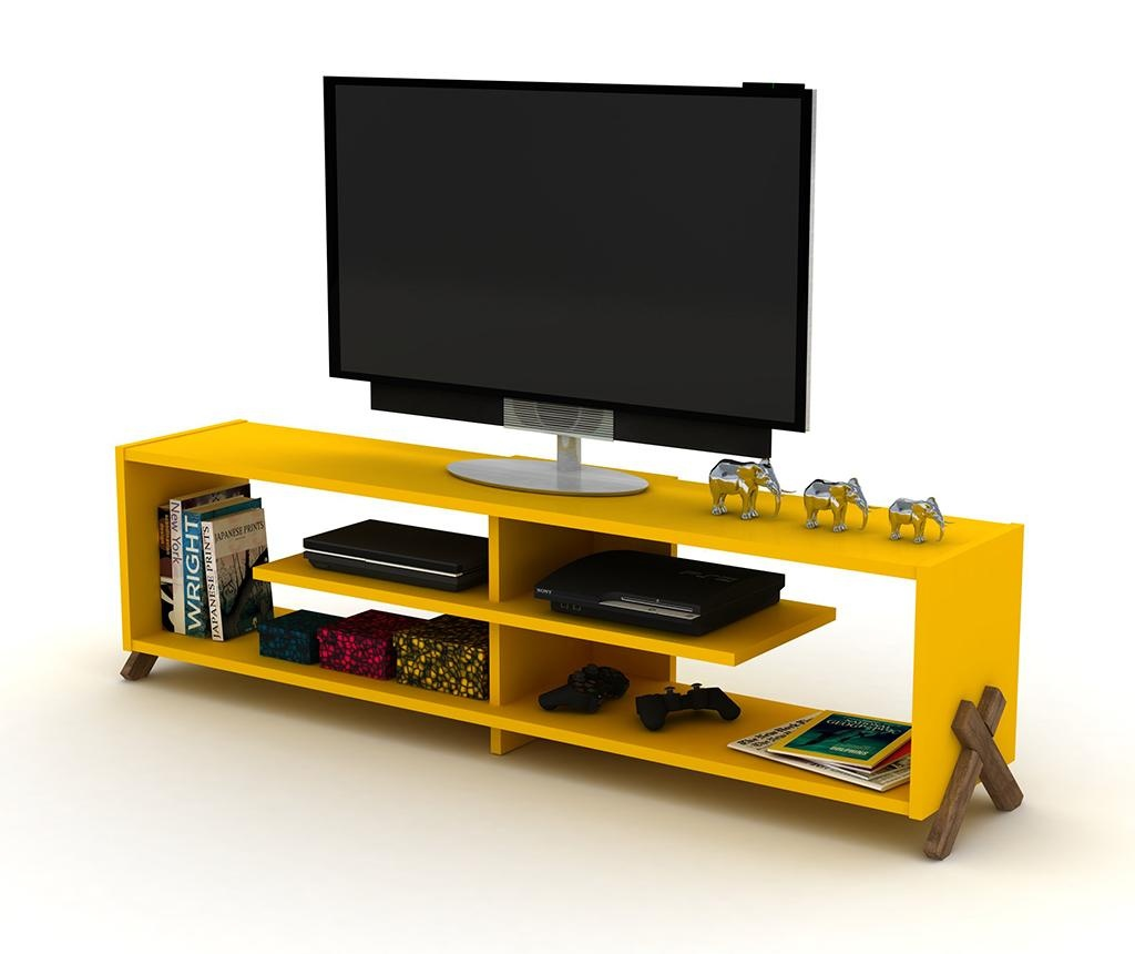 Comoda TV Kipp Walnut Yellow
