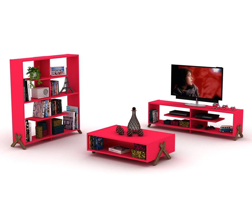 Comoda TV Kipp Walnut Pink
