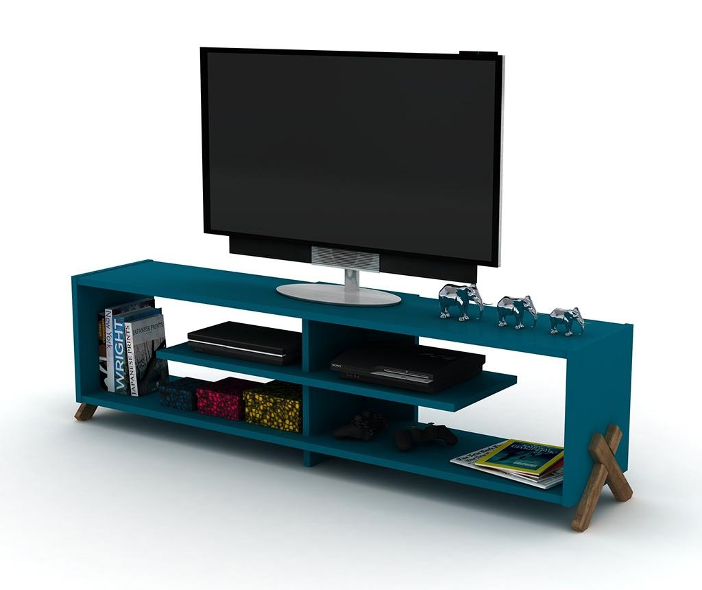 Kipp Walnut Blue TV Komód