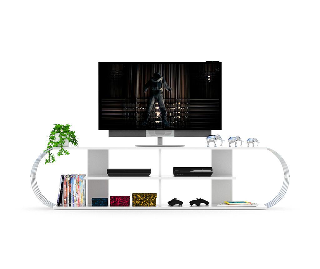 Comoda TV Case White Chrome