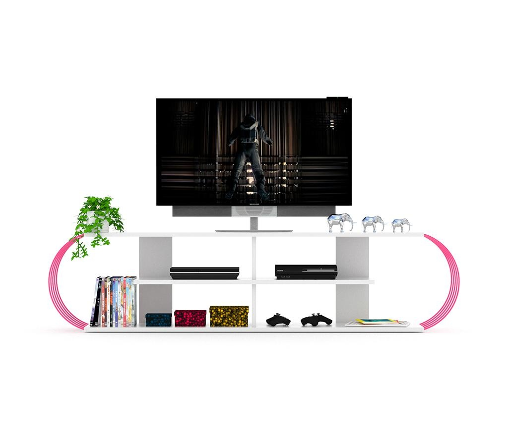 Comoda TV Case White Pink