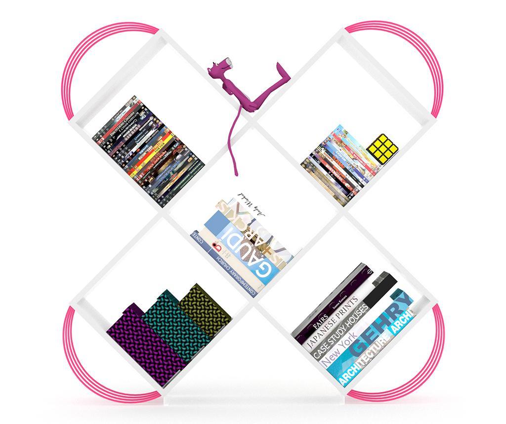 Regal za knjige Case White Pink