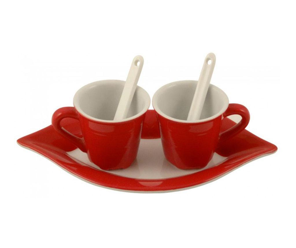 Set 2 skodelic in servirni pladenj Amalia