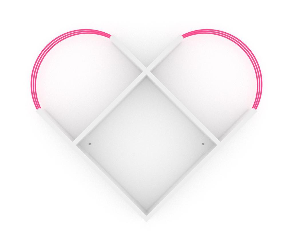 Zidna polica Case White Pink