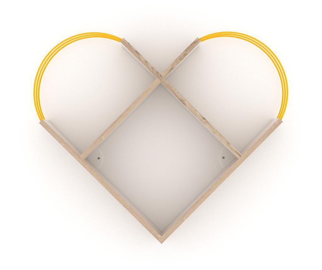 Raft de perete Case Oak Yellow