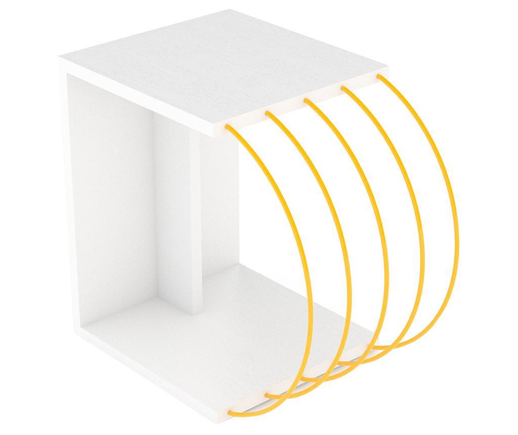 Τραπεζάκι Case White Yellow