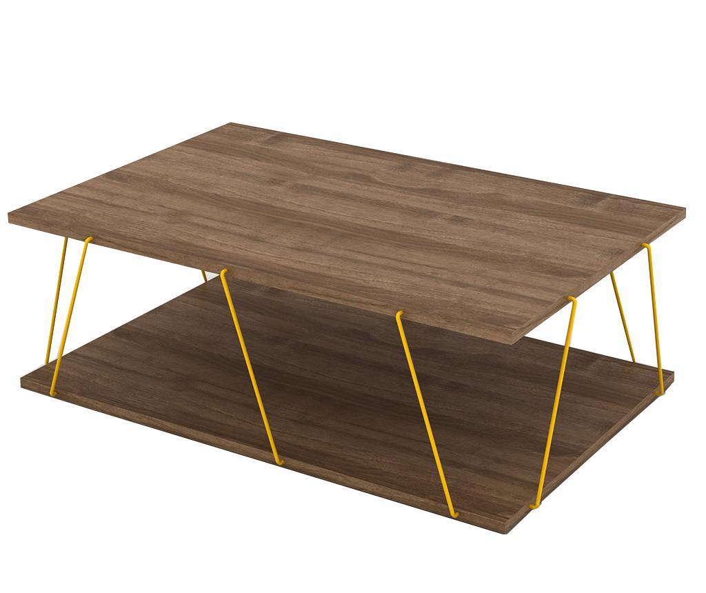 Tars Walnut Yellow Dohányzóasztal