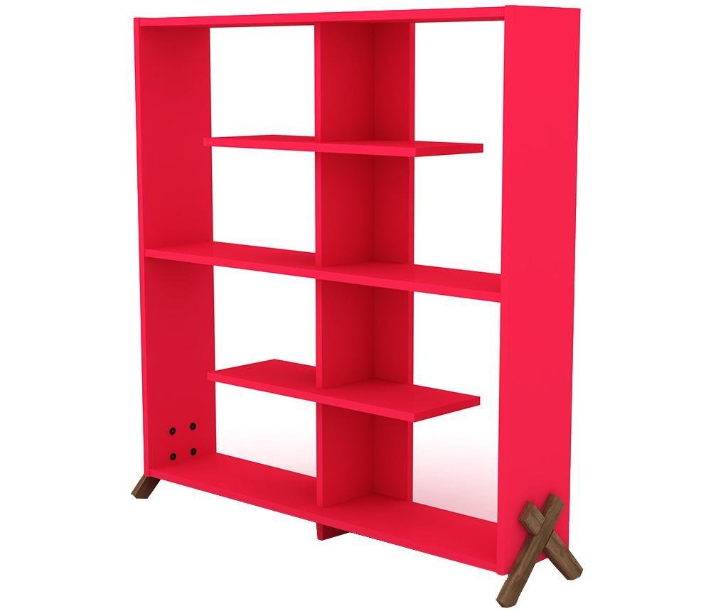 Knižnica Kipp Walnut Pink