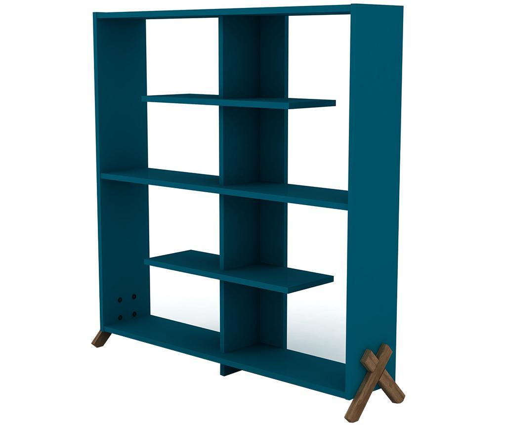 Knižnica Kipp Walnut Blue