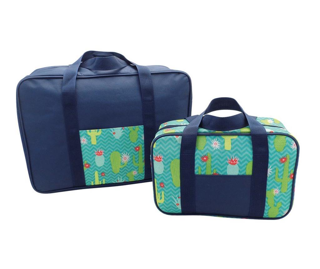 Set 2 hladilnih torb Snap Cactus