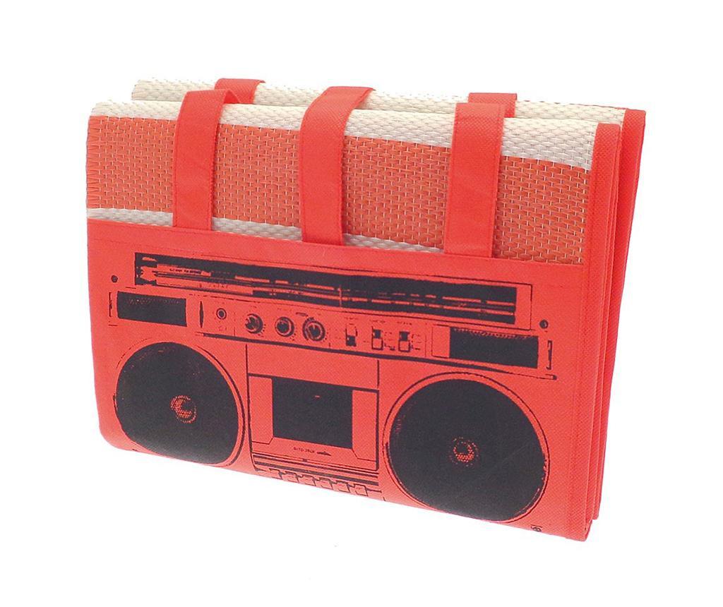Rogojina de plaja Beach Radio Red 90x180 cm