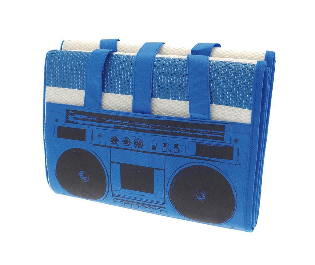 Rogojina de plaja Beach Radio Blue 90x180 cm