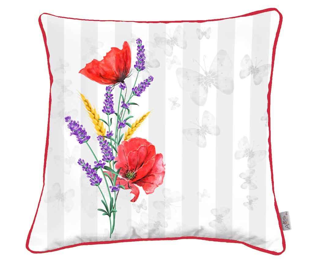 Jastučnica Poppy and Lavender 43x43 cm