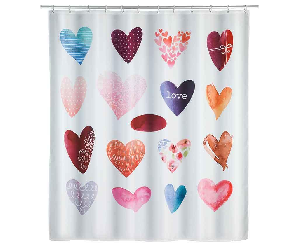 Sprchový závěs Love 180x200 cm
