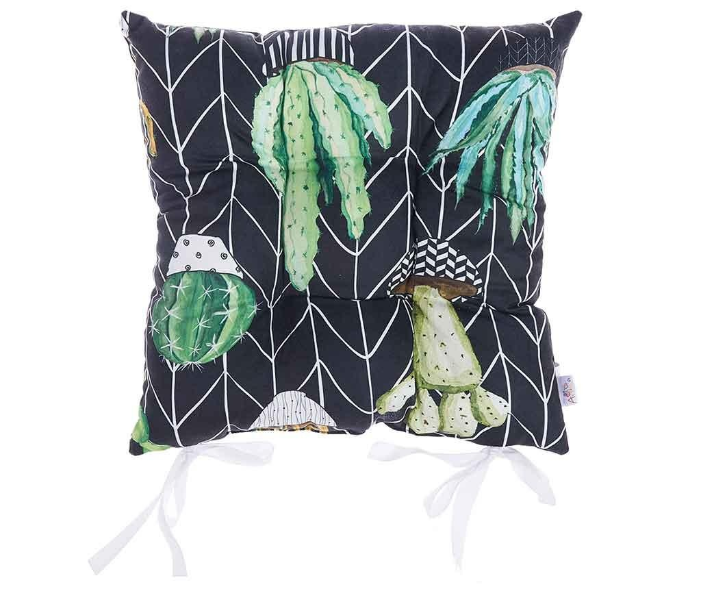 Perna de sezut Geometric Cactus Vibe 37x37 cm