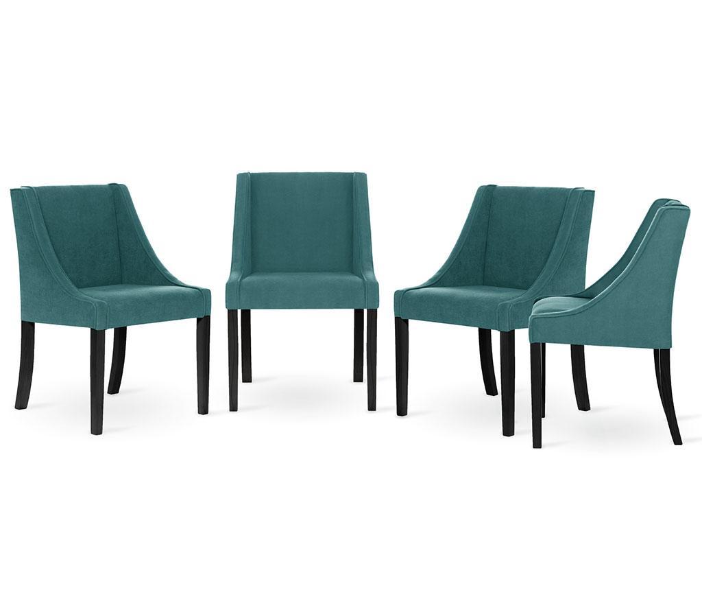 Set 4 scaune Guy Laroche Home Creativity Lagune