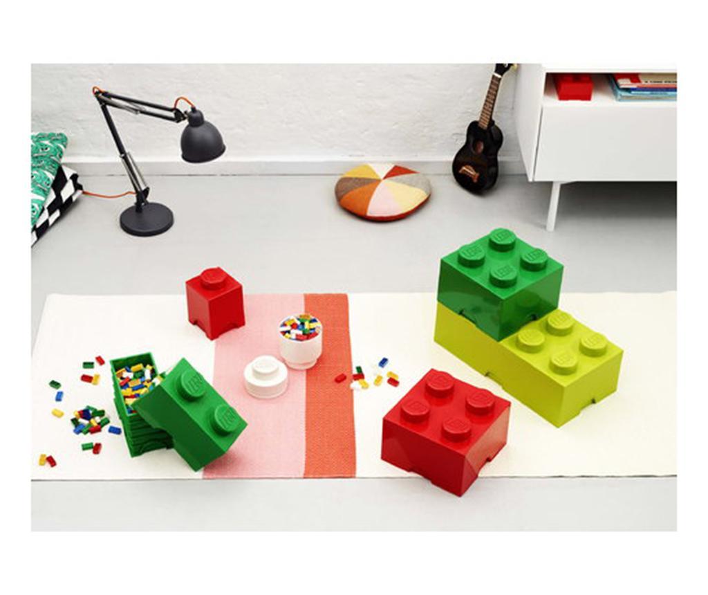 Cutie cu capac Lego Square Four Dark Green