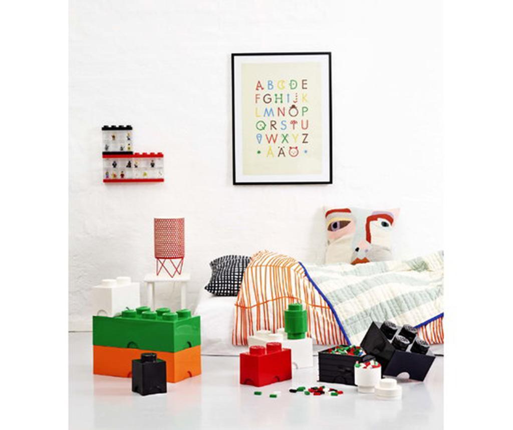 Škatla s pokrovom Lego Square Four Black