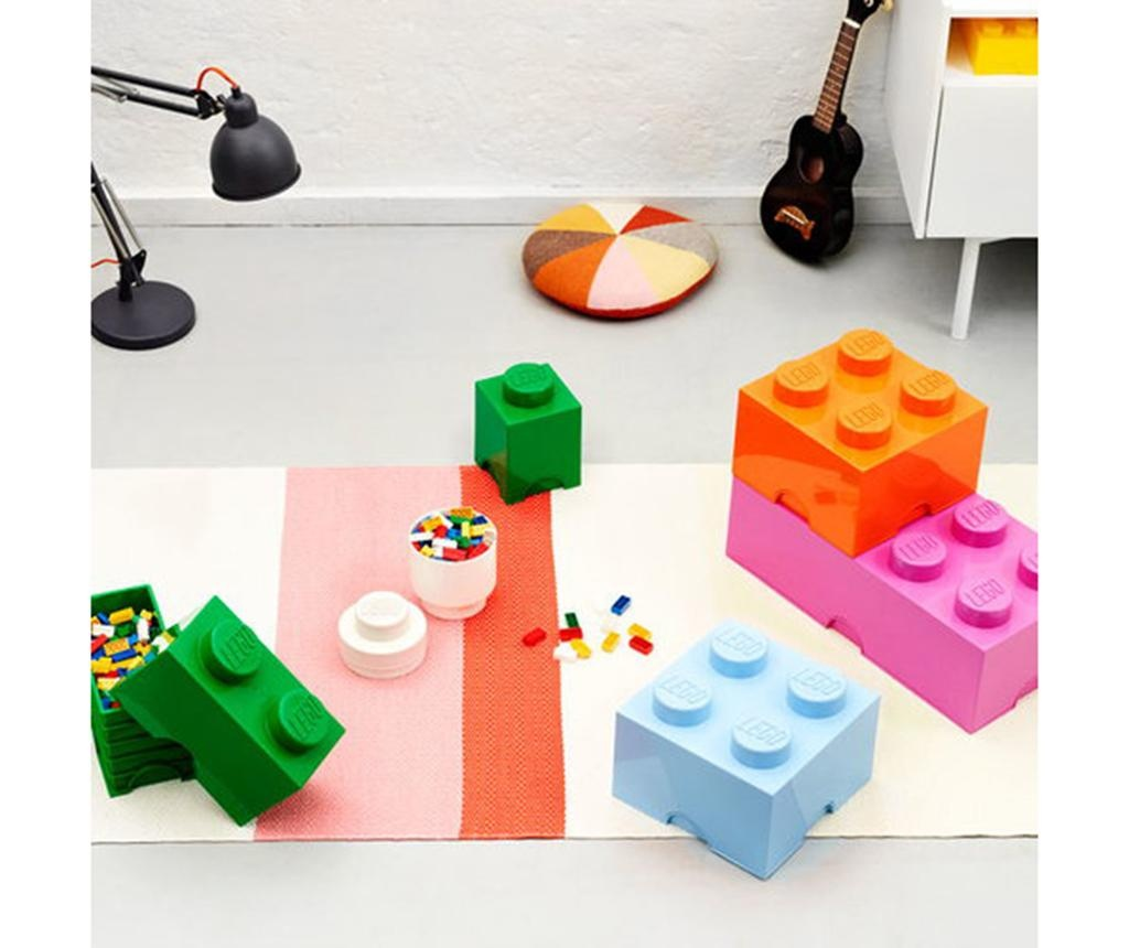Lego Square Four Orange Doboz fedővel