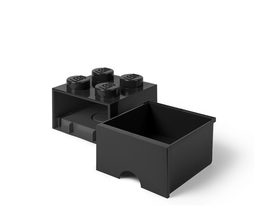 Lego Square One Black Tárolódoboz