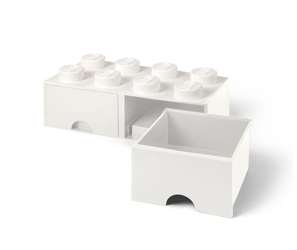 Kutija za spremanje Lego Square Duo White
