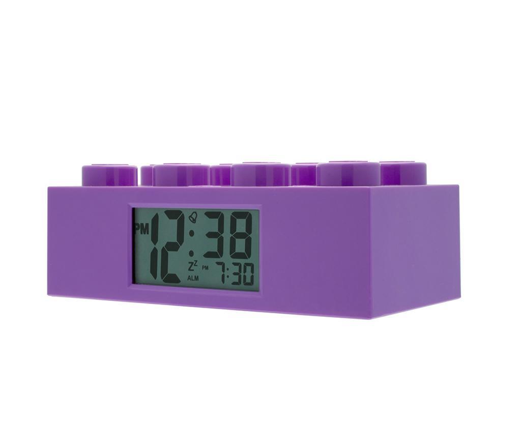 Ρολόι με ξυπνητήρι Lego Brick Monden Violet