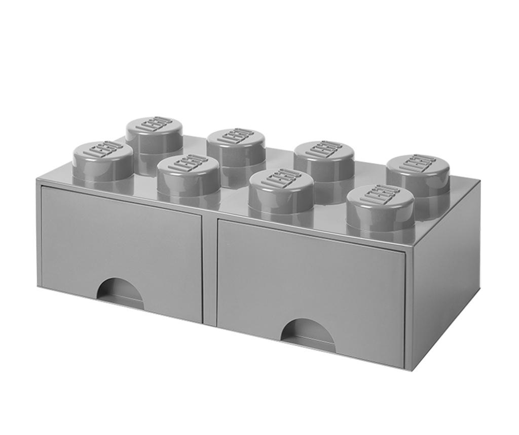 Cutie pentru depozitare Lego Square Duo Grey