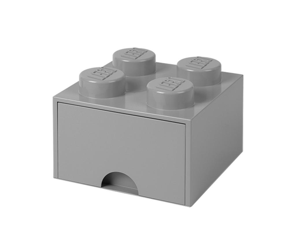 Cutie pentru depozitare Lego Square One Grey