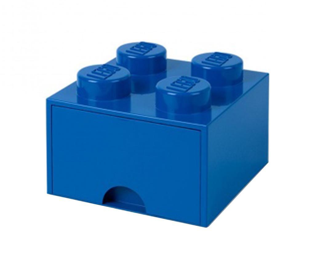 Cutie pentru depozitare Lego Square One Blue