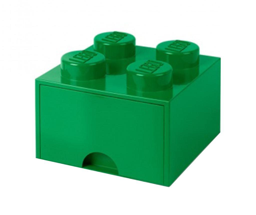 Lego Square One Dark Green Tárolódoboz