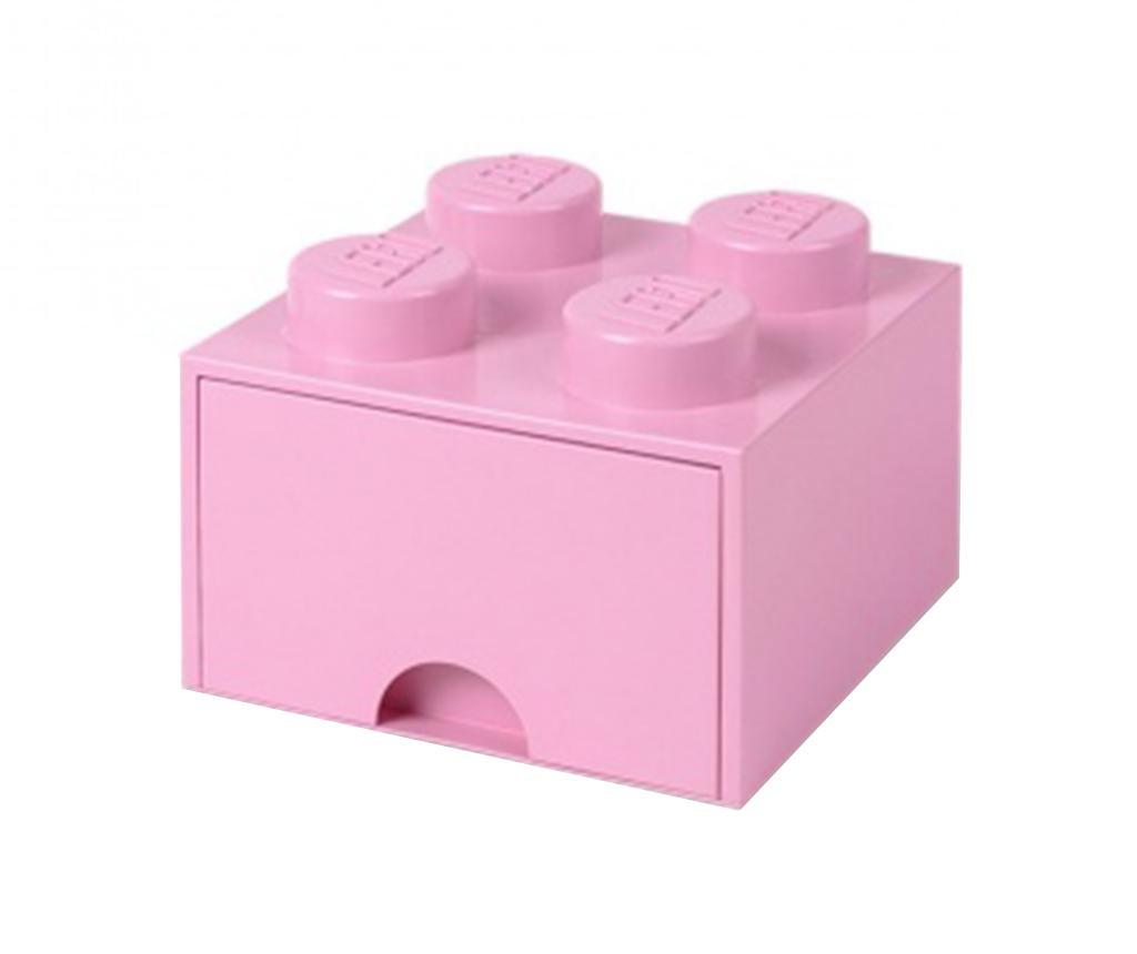 Cutie pentru depozitare Lego Square One Light Pink