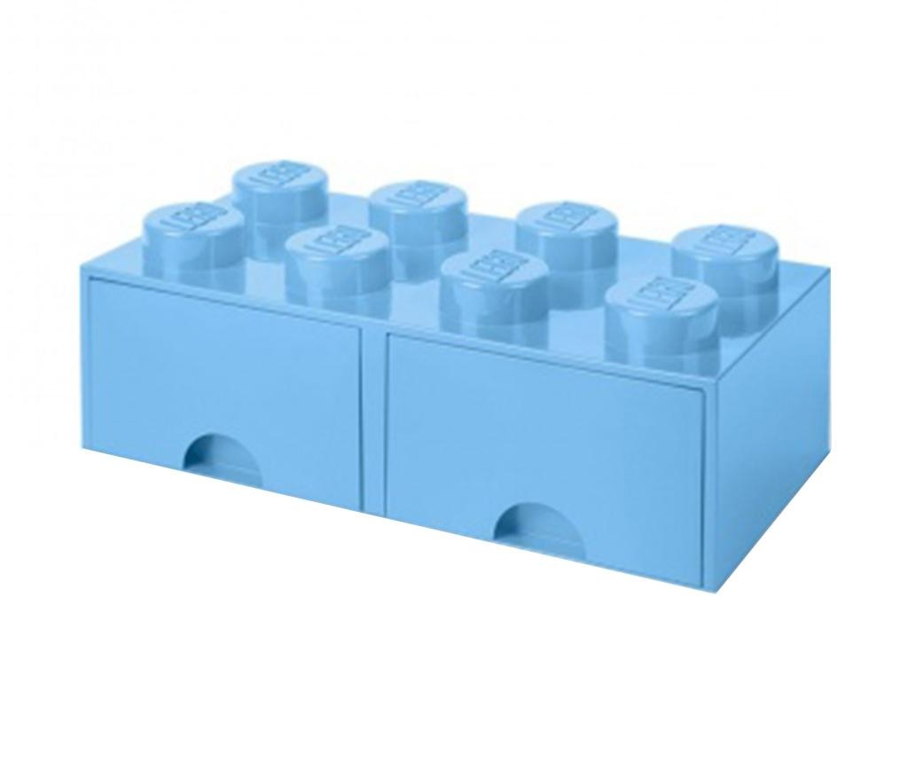 Shranjevalna škatla Lego Square Duo Light Blue