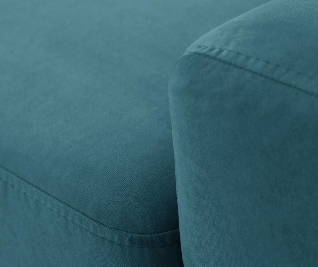Rohová pohovka na pravú stranu Georgia Turquoise