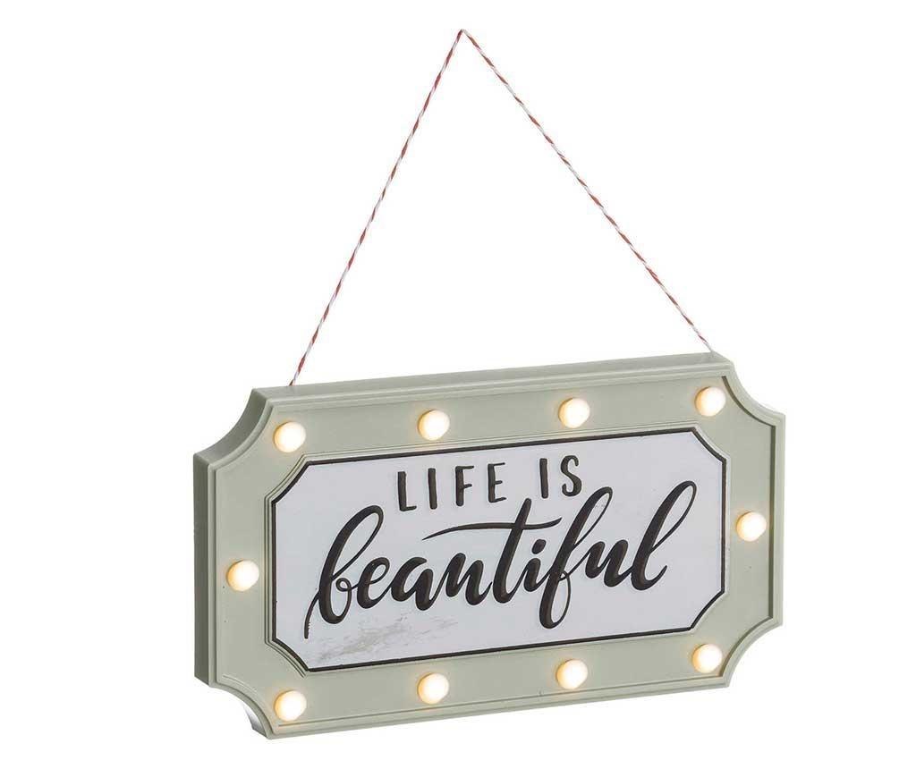 Decoratiune luminoasa suspendabila Life is Beautiful